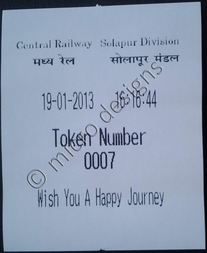 Token Slip Railways
