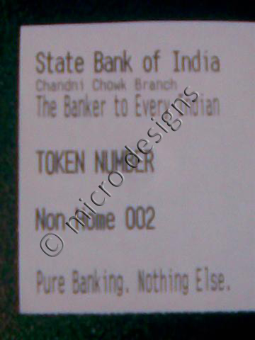Token Slip Bank